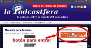 Imagen explicativa de cómo participar en lapodcastfera.net