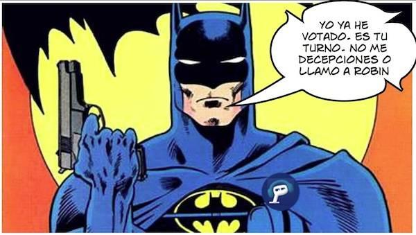 Batman te anima a participar en la encuesta