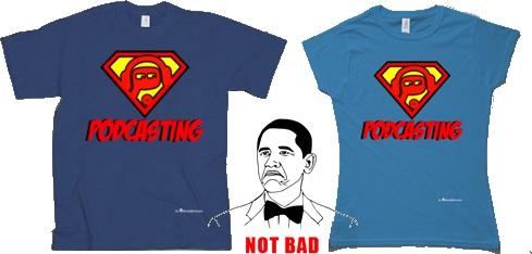 Nuevos diseños de camisetas de podcasting para chicos y chicas. Colores a elegir.