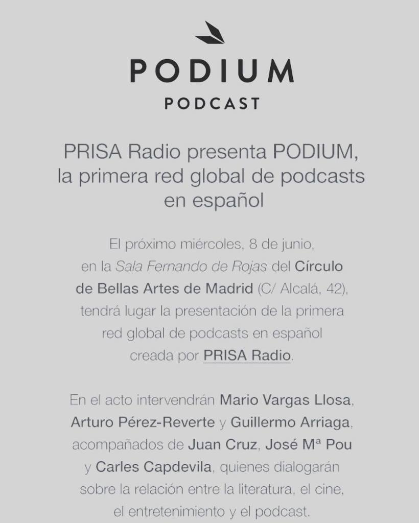 Comunicado de Podium Podcast