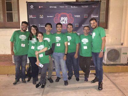 Todo el elenco organizador de las Jpod16Mlg.