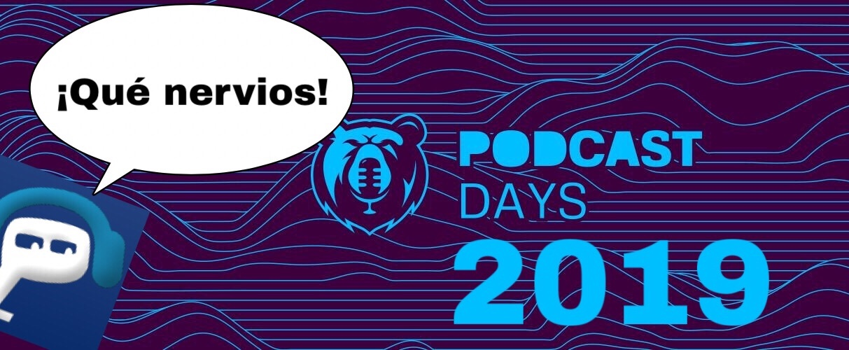 Logo de Podcast Days con p de lapodcastfera.net diciendo